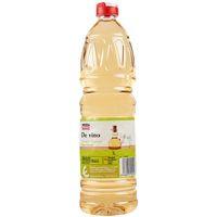 Vinagre de vino blanco EROSKI basic, botella 1 litro